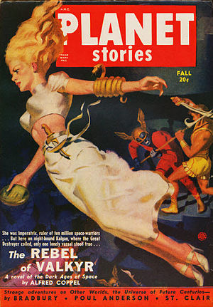 Sword and planet - Cover of Planet Stories, Fall 1950