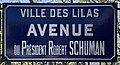 Plaque Avenue Président Robert Schuman - Les Lilas (FR93) - 2021-04-27 - 1.jpg