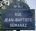 Plaque Rue Jean Baptiste Sémanaz - Paris XIX (FR75) - 2021-04-28 - 1.jpg