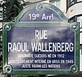 Plaque Rue Raoul Wallenberg - Paris XIX (FR75) - 2021-04-28 - 1.jpg