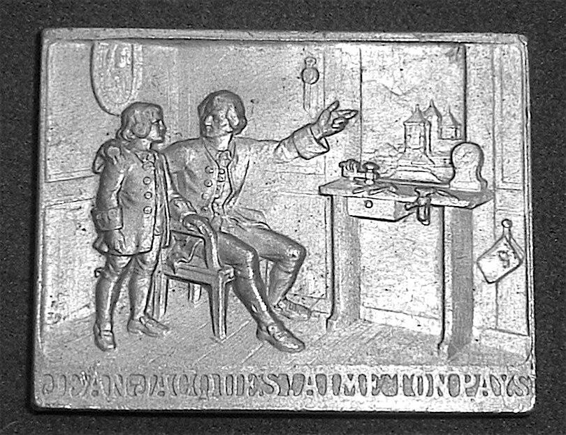 Plaque of Jean-Jacques Rousseau, Geneva, 1912