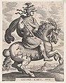 Plate 8- Emperor Otho on Horseback, from 'The First Twelve Roman Caesars', after Tempesta MET DP857134.jpg