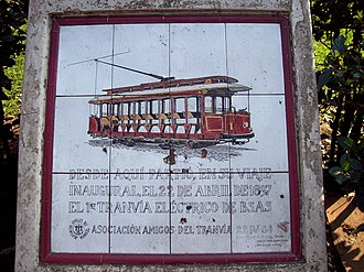 Plaza Italia, Buenos Aires - Mosaic celebrating the start of the first electric tram of the city.