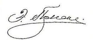 Eduard Pleske - Image: Pleske Eduard Dmitrievich Signature