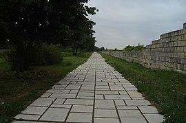 Изглед от останките в първата българска столица