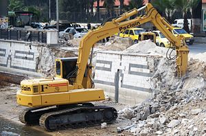 Poclain - Tracked Poclain excavator