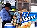 Policeman with Adam Sign - Midtown Manhattan - New York City - New York - USA (7083609969).jpg
