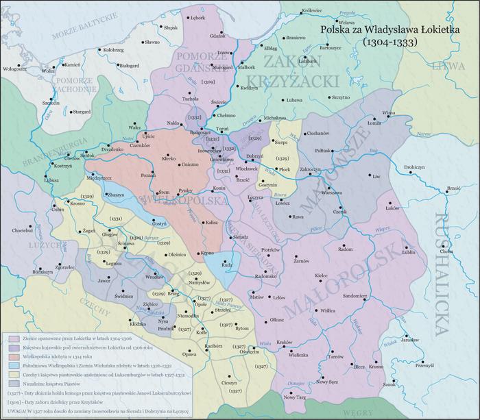 Polska za W Lokietka (1304-1333)