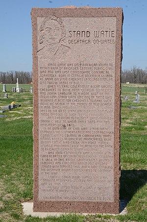 Stand Watie - Historical Marker in Polson Cemetery.