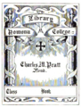 Pomoma College bookplate.png