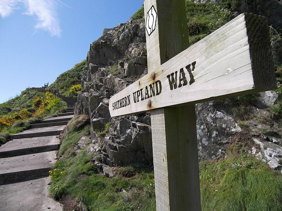 Portpatrick start of southern upland way