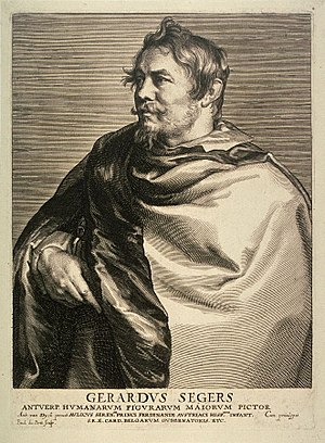 Gerard Seghers - Portrait of Gerard Seghers engraved by Paulus Pontius after Anthony van Dyck