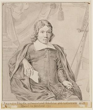 Jan van der Heyden - Portrait of Jan van der Heyden