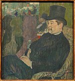 Portrait of Monsieur Delaporte in the Jardin de Paris, by Henri de Toulouse-Lautrec, 1893 - Ny Carlsberg Glyptotek - Copenhagen - DSC09471.JPG