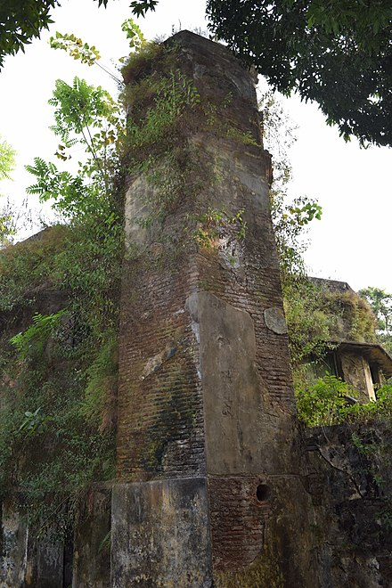 One of the few surviving structures of the Portuguese settlement in Chittagong Portuguese building tower 1.jpg