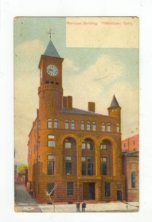 Main Street Historic District (Middletown, Connecticut) - Image: Postcard Municipal Building Middletown CT Pre 1907