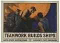 Poster, Teamwork Builds Ships, 1918 (CH 18505087).jpg