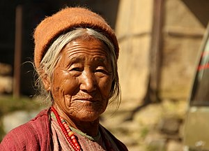 Demographics of Arunachal Pradesh - A lady in Tawang, Arunachal Pradesh