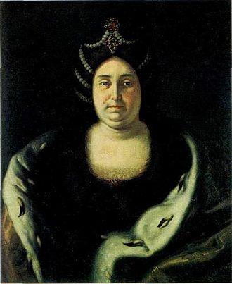 Ivan V of Russia - Praskovia Saltykova, Portrait by Ivan Nikitin.