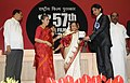 Pratibha Devisingh Patil presenting the Indira Gandhi Award to Shri Sanjay Puran Singh Chauhan for the Best Debut Film of a Director (Film Lahore), at the 57th National Film Awards function, in New Delhi on October 22, 2010.jpg