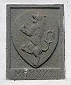 Pratovecchio, sala del podestà nel cassero, stemma 05 data 1140.JPG