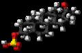 Pregnenolone sulfate molecule ball.png