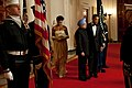 President Barack Obama, First Lady Michelle Obama, Prime Minister Manmohan Singh of India.jpg