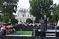 President Barack Obama delivers remarks during a memorial service at the Marine Barracks. (9902300725).jpg