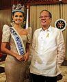 President Benigno S. Aquino III congratulates Miss World 2013 Megan Young.jpg