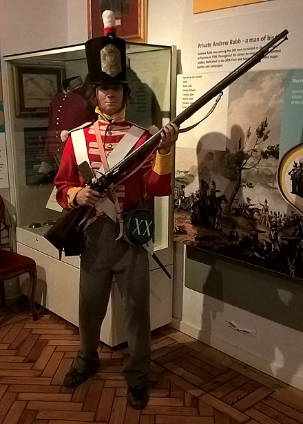 Part of the display at the Fusilier Museum Private Andrew Robb Fusiliers Museum 2016.jpg