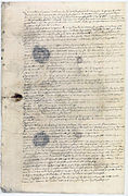 "Procès verbal d'examen du corps de la ""bête du Gevaudan"" 2 - Archives Nationales - AE-II-2927.jpg"