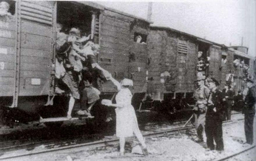 Pruszkow Transit Camp transport departure