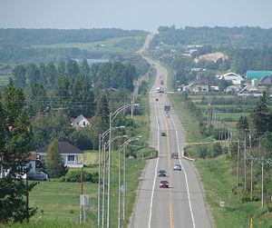 Quebec Route 101 - Route 101 near Saint-Bruno-de-Guigues