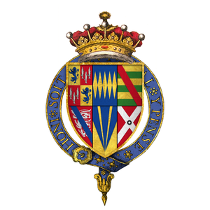 Henry Percy, 9th Earl of Northumberland - Quartered arms of Sir Henry Percy, 9th Earl of Northumberland, KG