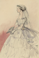 Queen Stephanie of Portugal on her wedding day (1858) - Empress Friedrich.png