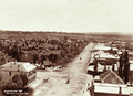 Queensland State Archives 2327 View of Warwick from Town Hall and looking across park 1897.png
