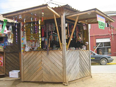 A kiosk in Pichilemu, in 2007. The design is considerably different to the recently published one. Image: Diego Grez.
