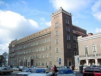 Riga Technical University - Main building on Latvian Rifleman Square.