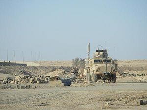 RG 33 in Iraq at FOB Normandy side angle.jpg