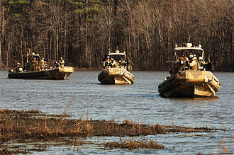United States Navy Riverine Squadron - RIVRON 1 training with SURC at Ft. Pickett, Virginia