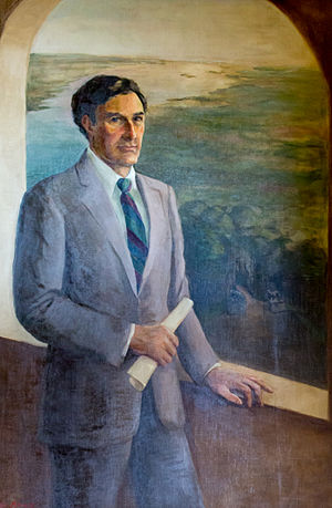 John Chafee - Official portrait in the Rhode Island State House