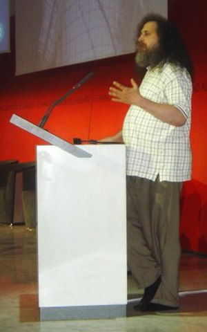 DADVSI - Richard Stallman speaking against DADVSI at Paris, capitale du libre