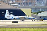 ROCAF Fokker 50 5003 Moving by Tractor at Songshan Air Force Base 20161220b.jpg