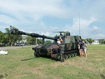 ROCMC M109A2 155mm Howitzer Display at Gangshan Air Force Base 20170812.jpg