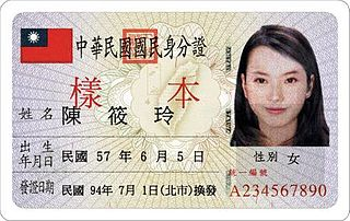 National identification card (Taiwan) ID card for Taiwanese (Republic of China) nationals