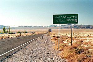 Rachel, Nevada - Image: Rachel NV Hwy 375
