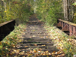 English: Abandoned Railroad Tracks