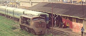 Transport in Ghana - Railway Station in Kumasi, March 2002