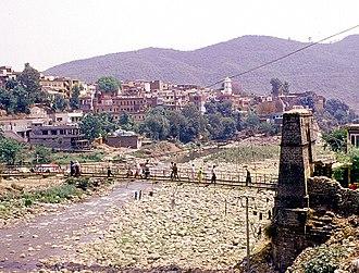 Rajouri - View of old Jhula Bridge at Medina Colony, Rajouri.