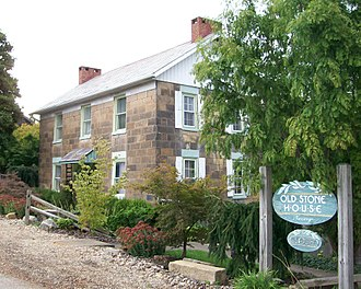 Norwich, Ohio - The Ralph Hardesty Stone House, a historic site in the village